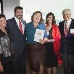 PWC representatives Nina Creech and Chris Owens, with Christie Brown, Phil Castellini and Bob Castellini