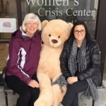 Marsha Croxton, executive director of the Women's Crisis Center, and Jennifer Sandmann, toy drive founder