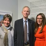 Abby Schwartz, director, Cincinnati Skirball Museum; James Friedman, photographer; and Sarah Weiss, CHHE executive director