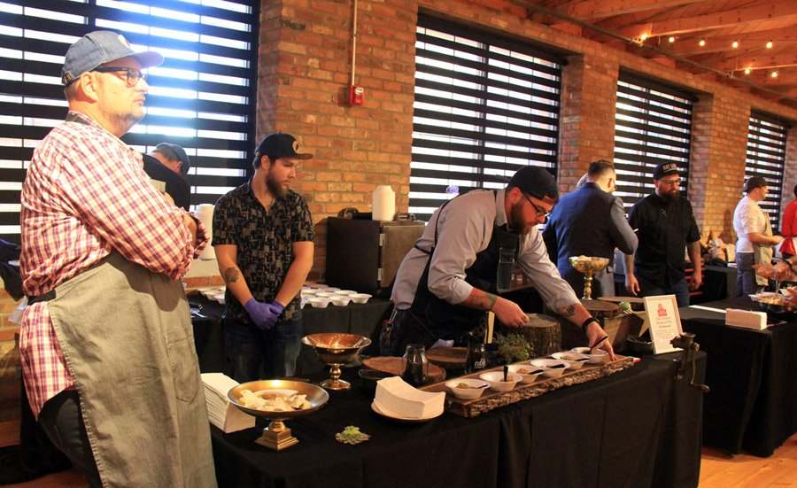 Chef Jackson Rouse of The Rookwood and his team serve German dumplings in pork broth.