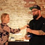 Megan Gambrill, chair of Slow Food Cincinnati, and chef Mike Florea of Maribelle's Eat + Drink