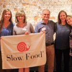 Slow Food Cincinnati board members Sharon Rudd, Claire Luff, Wendy Silvius, Remo Bellucci, Sue Morgan, Megan Gambrill