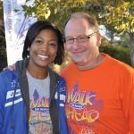 Emcee Kyla Woods and event co-chair Rick June