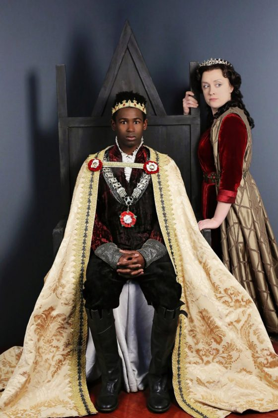 Darnell Pierre Benjamin and Kelly Mengelkoch in Henry VI: The Wars of the Roses, Part 2. Photo by Mikki Schaffner Photography.