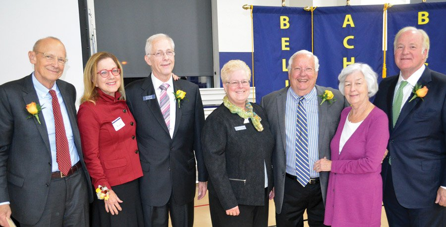 Rick and Vicky Reynolds; Don Feldmann; Sister Jeanne Bessette, DPCR president Braden and Eileen Mechley; and John Barrett