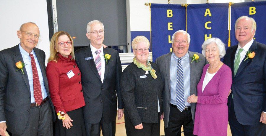 Rick and Vicky Reynolds; Don Feldmann; Sister Jeanne Bessette, DPCR president Braden and Eileen Mechley; and John Barrett