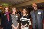 Laura Menge of GCF, Barbara Sferra, Leslie Mooney of the Clifton Cultural Arts Center and Herb Robinson