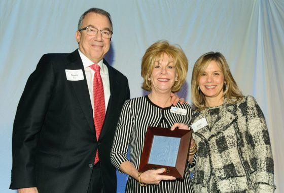 Honoree David W. Ellis III of UBS Financial Services with Dianne Rosenberg, GCF Governing Board chair, and Ellen Katz, GCF president/CEO