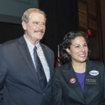 Former Mexican President Vicente Fox with Judge Marilyn Zayas-Davis of the Ohio 1st District Court of Appeals
