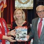 Cheryl Popp, CWC member Carol Wiggers and Peter Bronson