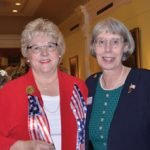 Cheryl Popp, director of Honor Flight Tri-State, with CWC President Mary Ellen Betz