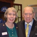 CWC president Mary Ellen Betz and Ed Burke, a World War II veteran of Normandy and the Battle of the Bulge