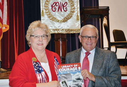 Cheryl Popp, director of Honor Flight Tri-State, and Peter Bronson, former editorial page editor for the Cincinnati Enquirer