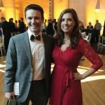 Emcee Bob Herzog with executive director Melissa Newman