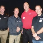 Chip Thompson, Shane Williams, Mark Ramstetter and Scott Heyob, representing Prestige A/V and Creative Services