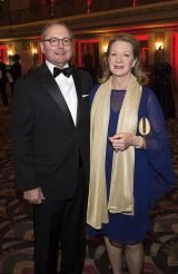 "Opera Board president Gary T. ""Doc"" Huffman and Milly Huffman"