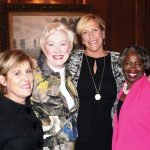 Hope Felton-Miller, YWCA board chair; Nancy Zimpher, keynote speaker; Barbara Perez, YWCA president/CEO; and Diane Jordan-Grizzard, YWCA Racial Justice Committee chair