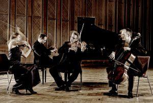 The award-winning Faure Piano Quartet makes a welcome return to Chamber Music Cincinnati, Monday. Photo by Mat Hennek.