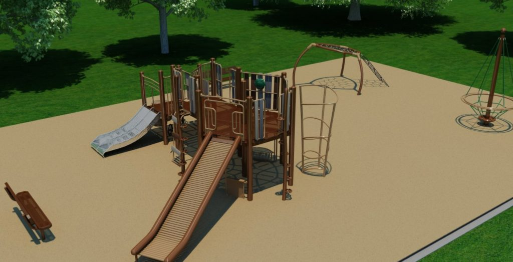 A rendering of the playground