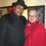 Jymi Bolden, Art Beyond Boundaries director, with artist Lauri Aultman