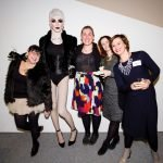 Pam Kravetz, Miss Judith, Drink and Draw creator Lindsay Niehls, CAC Curator of Education Jaime Thompson and Raphaela Platow