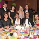 The Neyer table: (seated) Paul Reis, Lois Reis, Kristina Neyer, Dan Neyer, Donna Broderick; (standing) Charles Rinehart, Annie Rinehart, Amanda Kladakis, John Kladakis, Joe Broderick