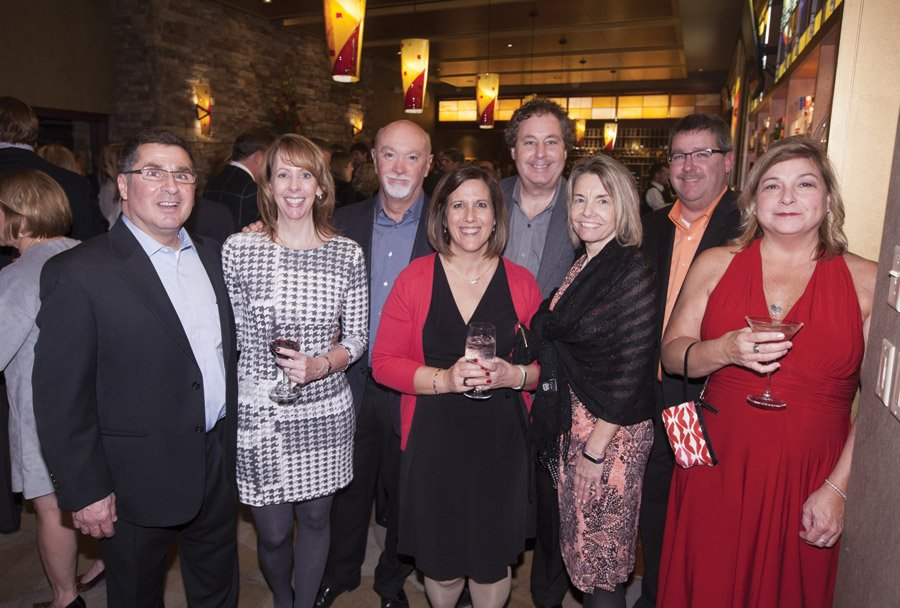 From presenting sponsor spa Inc: Jim and Kelly Petruso, spa CEO Bill O'Bryan, Lori Weber, Craig Oaks, Debbie Oaks, Scott Weber and manager Kim McCluskey