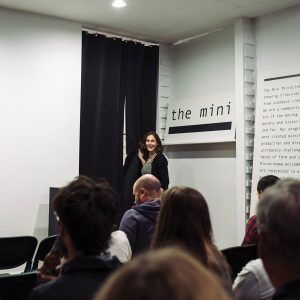 Jacqueline Wood, founder of Mini Microcinema (photo by Chris Glass)