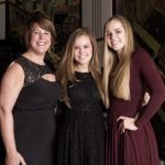 4C president/CEO Vanessa Freytag with honorees Morgan Renners and Meghan Lawlor of Cincinnati Hills Christian Academy