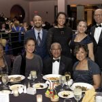 (Seated) Vanessa Sams, Joyce Wilson, John Ferguson and honoree Stephanie Byrd; (standing) Austin Byrd, Alexis Byrd, Joset Wright-Lacy and Clem Lacy