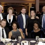 Haile/U.S. Bank Foundation table: (seated) Andy Hopkins, Elizabeth Hopkins and Sheree Tait; (standing) David Mann, Betsey Mann, Ross Meyer, Emily Meyer and Pastor Enis Tait