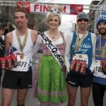 Iris Simpson Bush, executive director of the Flying Pig Marathon, Sean Vandermosten, Rachel Appenfelder, Tommy Kauffmann and Zachary Holtkemp