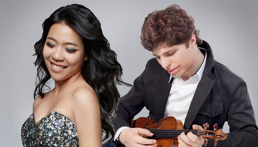 Pianist Joyce Yang and violinist Augustin Hadelich