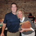 Trivia Night committee chair Austin Hansford of TQL with Elise Hyder, CYC donor and volunteer relations manager