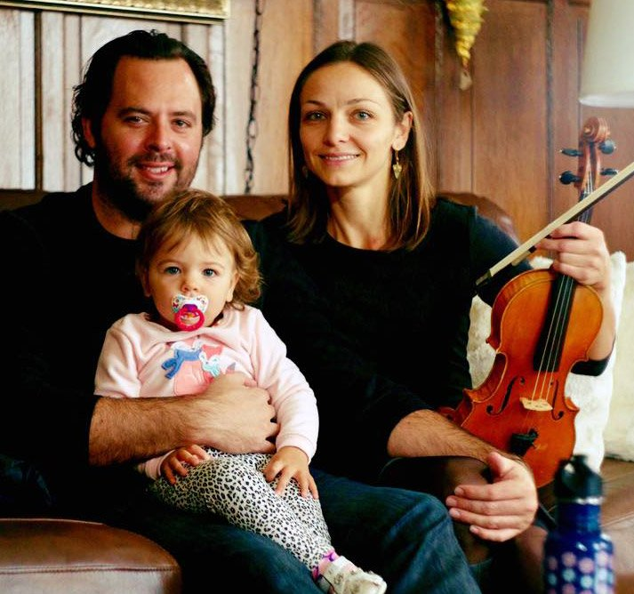 David Donnelly and Tatiana Berman with daughter Alina Photo by Heath Saunders