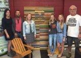 Jenna Funchion, Richard Craig, Janelle Rosenbury, Jillian Fust and Hannah Clay of Integrity Express Logistics, with Gary Prue of Building Ability