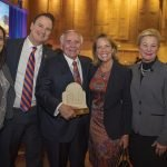 Lindsay Berding, Jeff Berding, honoree Bill Butler, Julia Poston, Kay Geiger and Jack Geiger