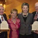 Honoree Bill Butler, Sue Butler, Francie Williams and honoree John Williams