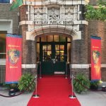"The Irish Center houses the Irish Heritage Center with the red carpet Cead Mile Failte which features the Irish greeting, ""One Hundred Thousand Welcomes."""