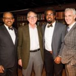 Richard Moore, Polk Laffoon, Dhani Jones and Mercantile executive director John Faherty