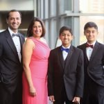 The Ahuja Family, members of the Cincinnati Children's Champions program