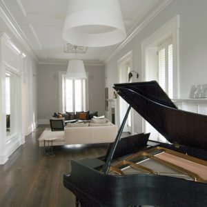 The Kennedy House, 124 Garrard St., a 10,000-square-foot Greek Revival style house built in 1847, currently filled with contemporary furniture, lighting and art