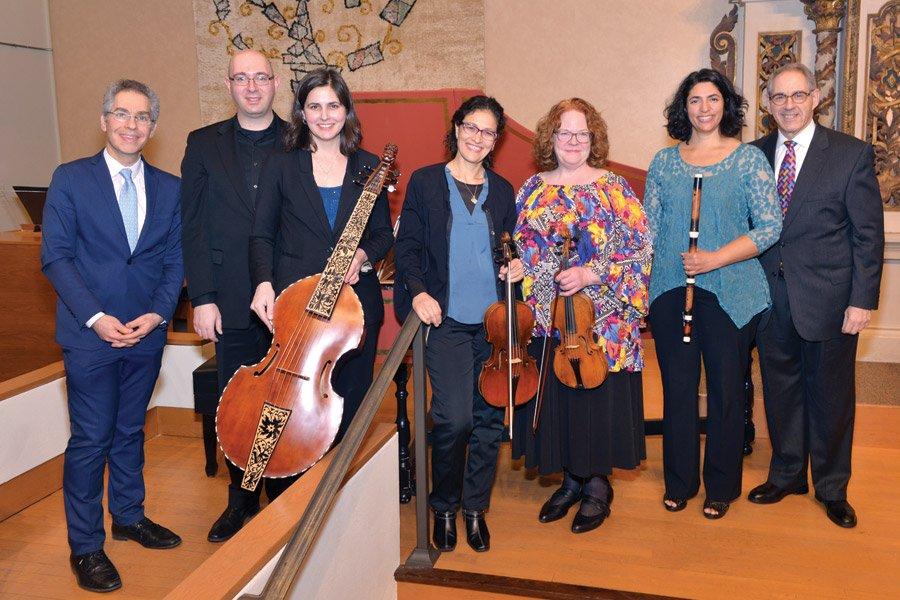 Dean Jonathan Cohen, Michael Unger, Annalisa Pappano, Yael Senamaud, Allison Edberg Nyquist, Leila Breithaupt and Rabbi Ken Kanter