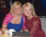 Wish Kid speaker Lauren Weghorst with emcee Sheree Paolello, WLWT anchor