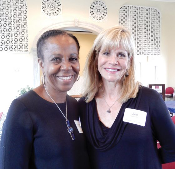 Volunteers Phyllis McCullom and Joan Heckard