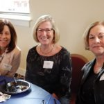 Volunteers Michele Schuster, Emily von Allmen and Pat Goellner