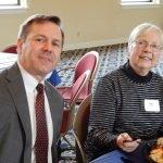 ProKids board president John Hands and volunteer Mary Friel