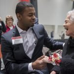 Marian Spencer and Mitchell Phelps, undergraduate student body president
