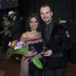 Second runner-up Amal Daoud with dance pro Josh Tilford