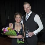 Runner-up and fundraising champion Dr. Allison Holzapfel and dance pro Jeremy Mainous